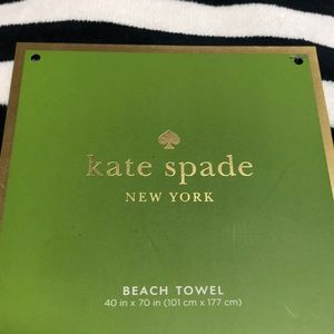 New Kate spade beach towel